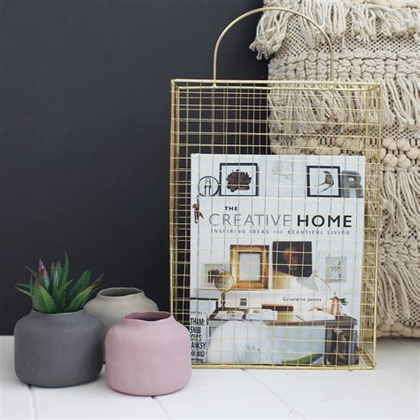 Posh Totty Design Interiors by Gold Wire Magazine Holder By Posh Totty Designs Interiors