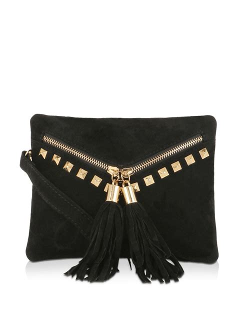 buy studded envelope sling bag for s black