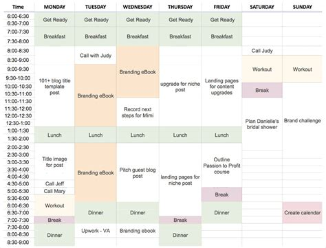 time blocking template how to plan your schedule with time blocking with template