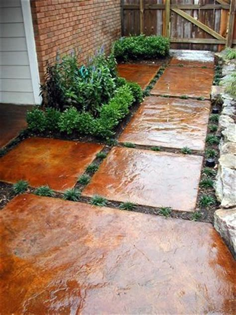 stepping stones stained concrete pieces diy home design