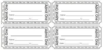 Voucher Vip 1 Th blank reward ticket coupon by teachers pay