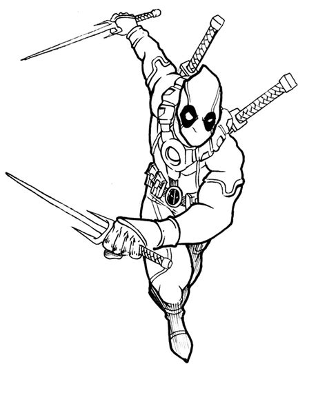 deadpool coloring pages deadpool coloring pages bestofcoloring