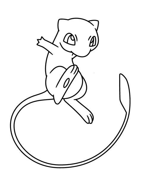 pokemon mew coloring page az coloring pages