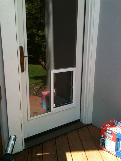 Exterior Doors With Doggie Doors Built In Door With Built In Door Must For Owners Interior Exterior Ideas