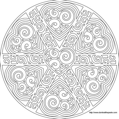 new mandala coloring pages mandala coloring pages advanced level printable az