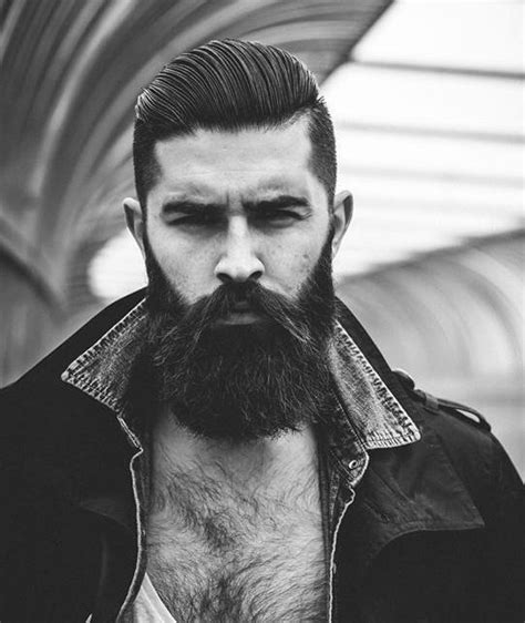Hairstyles With Beard by Cool Side Swept Undercut Hairstyle With Beard Undercut
