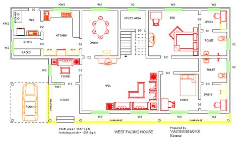 west facing house vastu floor plans west facing house vastu plan north west facing house west