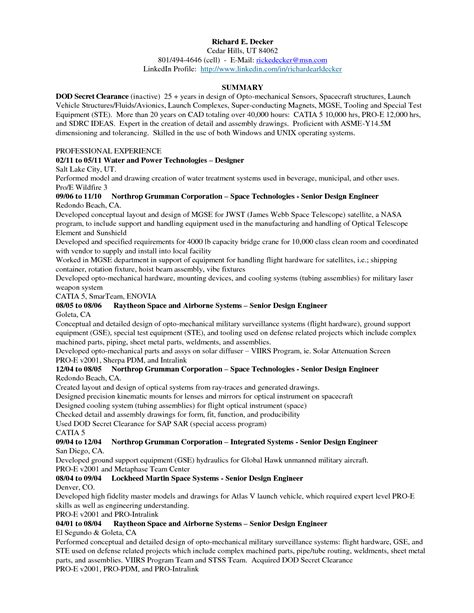 sle resume for mechanical engineer experienced mechanical engineer resume sle 28 images