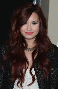 demi color for american hair demi lovato long wavy red hairstyle hairstyles weekly