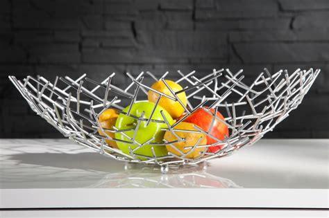 obstschale modern designer obstschale structure silber aus silbernem metall