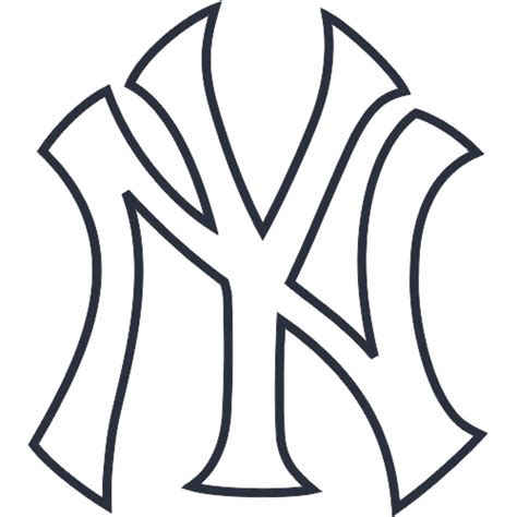 New York Yankees Coloring Pages new york yankees cap logo decal sticker stk mlb nyy
