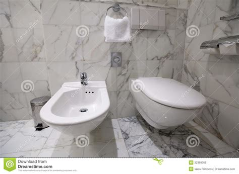 toilet bowl with bidet toilet bowl and bidet royalty free stock image image