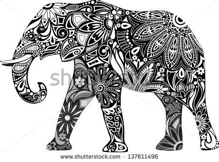 coloring pages tribal elephant 4 best images of colorful elephant design elephant
