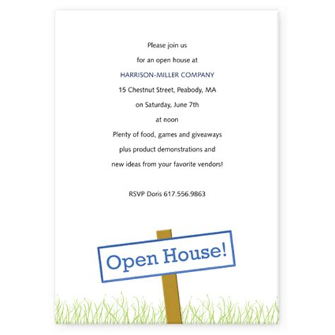 Open House Invitation Template open house invitation wording template best template
