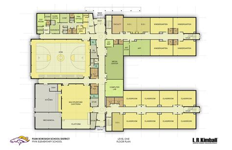 elementary school floor plans pivik elementary level 1 floor plan courtesy of l r