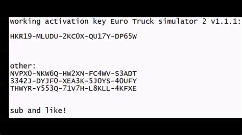 Euro Truck Simulator 2 Full Version Product Key | euro truck simulator 2 activation key codes youtube