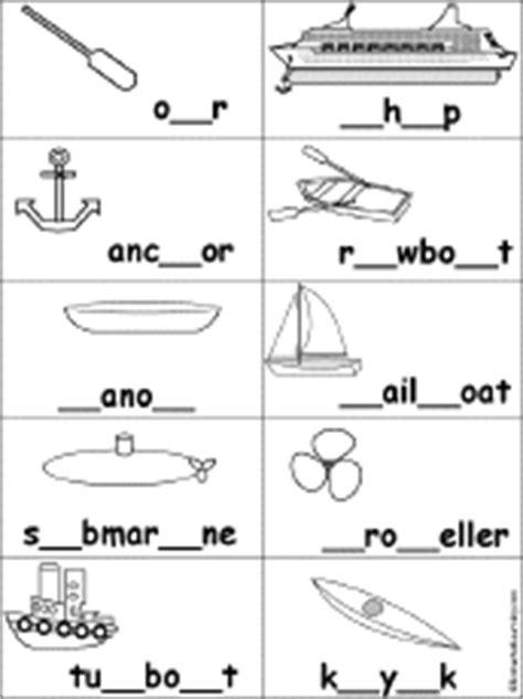boat in spanish spelling fill in missing letters in boat words enchantedlearning