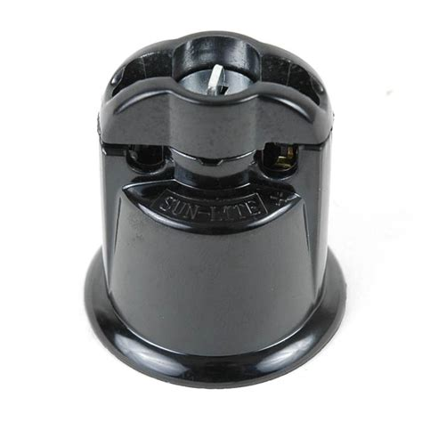 Outdoor Light Sockets Medium Base Black Bakelite Sockets Novelty Lights Inc