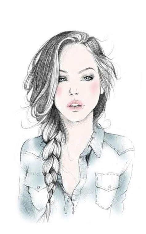 art beautiful beautiful hair braid cute draw drawing