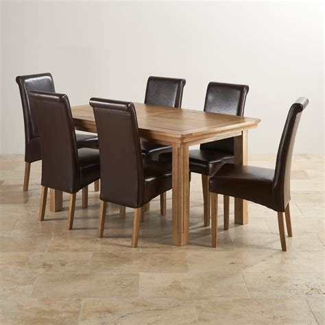 Solid Oak Extending Dining Table And 6 Chairs Canterbury Extending Dining Table 6 Leather Chairs
