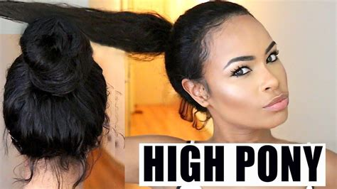 puttin in weave to make ah ponytail in ah short hair with shave sides how to put your wig into a high ponytail watch me slay