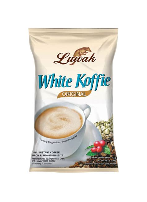 White Coffee Isi 20 luwak white koffie original pck 10x20g luwak white coffee original 10x20g a1ca9de2