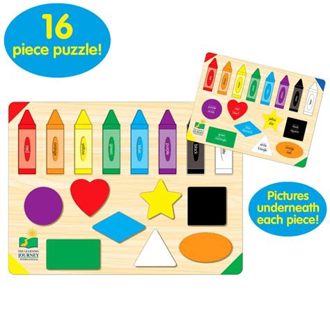 Learning Puzzle lift learn colors and shapes puzzle educational toys
