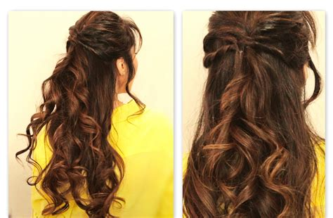 half up half down daily hairstyles cute twisted flip half up half down fall hairstyles for