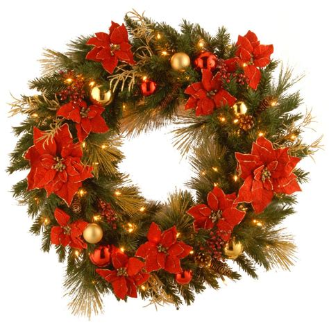 decorative wreaths for home national tree company decorative collection home spun 36