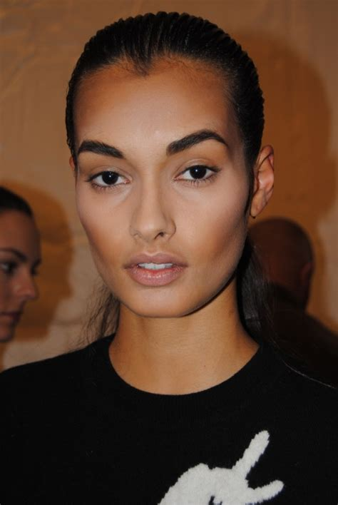 hairstyle to avoid sunken face get the look m a c for august getty fall 2015 nyfw