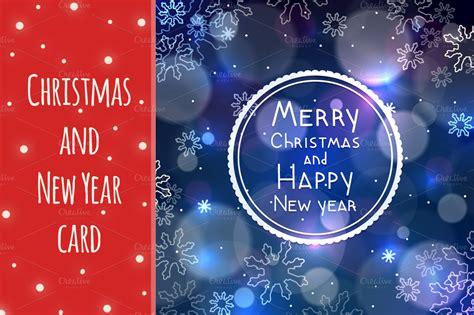 christmas   year greeting card card templates  creative market