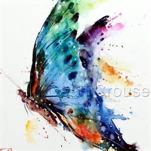 butterfly watercolor print by dean crouser by deancrouserart