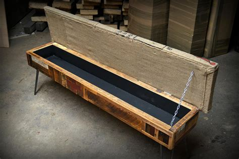 reclaimed wood storage bench reclaimed wood storage bench adorable home
