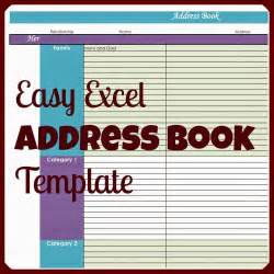 Phonebook Template by S Plans Easy Excel Address Book Template