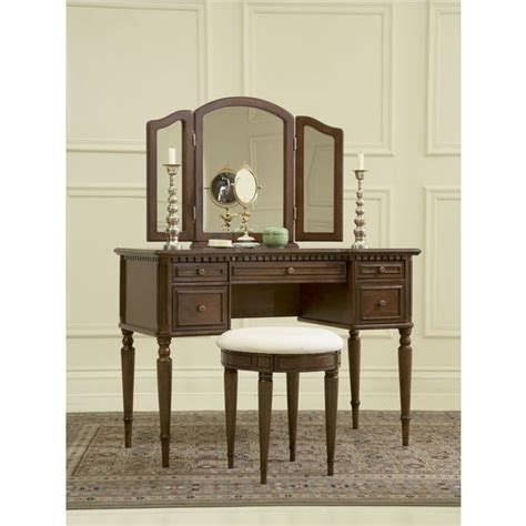 vanities with mirrors and benches vanities warm cherry quot vanity mirror bench by powell