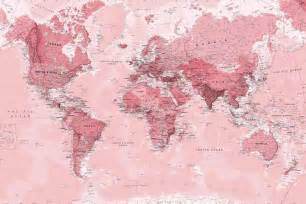 Blue Bathroom Designs pink world map wall mural murals wallpaper