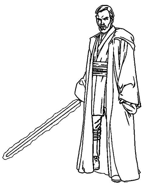 obi wan kenobi lightsaber color obi wan kenobi coloring pages 5 gif 1228 215 1583 lineart