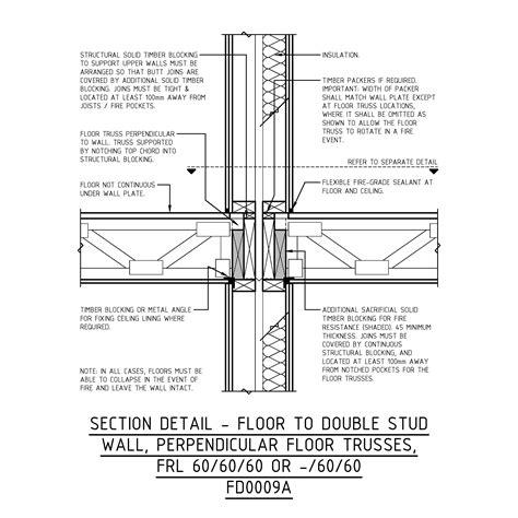 1 Hr Concrete Floor With Wood Framing - wood floor truss framing details wood flooring