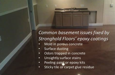 Epoxy Floor Coatings Create a Mold Proof Basement Floor