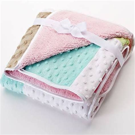 Just Patchwork - just born patchwork popcorn velboa blanket baby