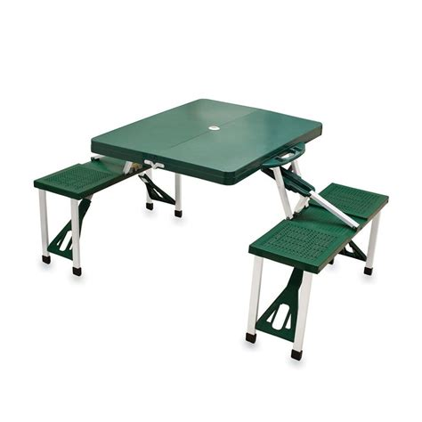 Plastic Folding Picnic Table by Shop Picnic Time 4 Ft 6 In Green Plastic Rectangle Folding