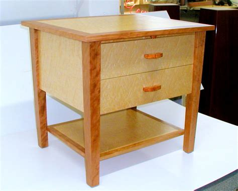 maple night stands bedroom custom made cherry and maple nightstand rj fine woodworking