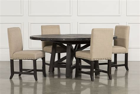 5 Piece Dining Room Set jaxon 5 piece round dining set w upholstered chairs