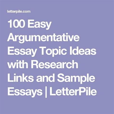 100 Argumentative Essay Topics best 25 sle essay ideas on narrative essay essay writing exles and outline essay
