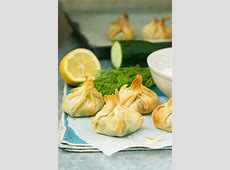 Greek filo parcels with tzatziki - Scrummy Lane Meat Spinach Cheese Pastry