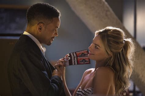 focus will smith haircut will smith and margot robbie tangle in first focus images