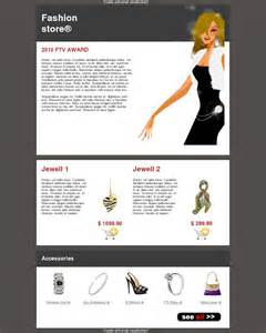 email template clothing shoes bag jewelry ecommerce