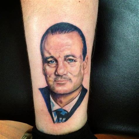 bill murray tattoo bill murray portrait tattoos color