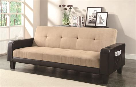 Brown Fabric Sofa by Coaster 300295 Brown Fabric Sofa Bed A Sofa
