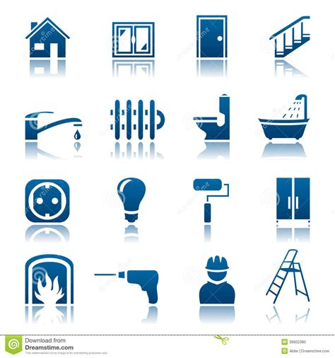 house repairs house repair icon set stock photo image 36602380